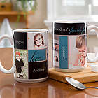 My Favorite Faces Photo White Handle Large Coffee Mug