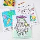 Easter Fun Personalized Coloring Activity Book with Crayons