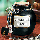 College Cash Stoneware Jar