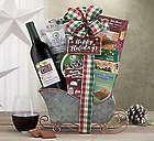 Brick Lane Cabernet Sleigh Gift Basket