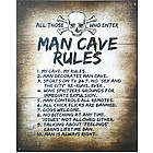 Man Cave Rules Tin Sign