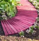 Cedar Outdoor Curved Pathway in Barn Red