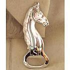 Personalized Silver Plate Horse Head Bottle Opener