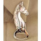 Personalized Silver Plate Horse Head Bottle Opener