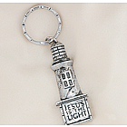 Pewtertone Lighthouse Key Chains