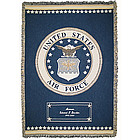 Personalized Air Force Throw