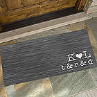 Personalized Family Initials Oversized Doormat