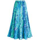 Cyan Blue Panel Skirt