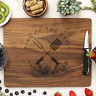 King of the Grill Laser Engraved Personalized Cutting Board