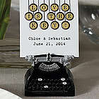 Love Keys VintageTypewriter Place Card Holder