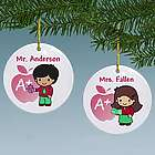 Teacher Custom Character Personalized Ceramic Ornament