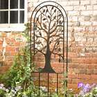 Metal Garden Trellis with Tree of Life Design