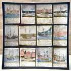 Ships At Port 8 Inch Square Plate