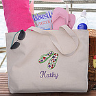 Flip Flop Fun Personalized Ladies Beach Tote