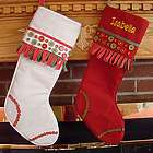 Buttoned Up for Christmas Personalized Stocking