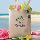Personalized Youth Beach Tote