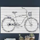 Bicycle Shaped Beach Themed Word Wall Art