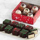 9 Christmas Cheesecake Bites & 9 Christmas Cake Truffles