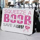 Squeeze a Boob Breast Cancer Awareness Shoulder Bag