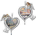 Thomas Kinkade Framed Art Joy and Peace Angel Ornaments