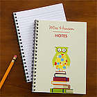 Personalized Wise Owl Notebook for Teachers