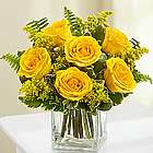 Love's Embrace Yellow Rose Bouquet