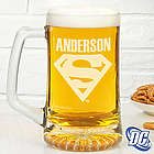 Superman Personalized Deep Etch Beer Mug