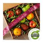 Organic Fruit Box with Thank You Ribbon
