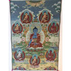 Eight Medicine Buddhas Art Tapestry