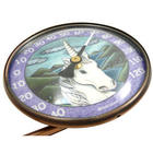 Copper Swivel Thermometer with Unicorn Art