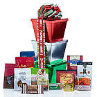 Personalized Holiday Colors Candy Gift Tower
