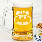 Batman Personalized Deep Etch Beer Mug
