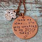 Humorous Dog Mom Hand-Stamped Copper Necklace