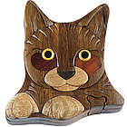 Kitten Secret Wooden Puzzle Box