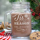 Personalized Holiday Mason Jar
