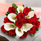 Red Rose & Calla Lily Bouquet Bouquet