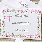 Floral Blessing Custom Printed Thank You Cards