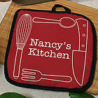 Personalized Kitchen Essentials Pot Holder