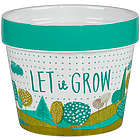 Let It Grow Ceramic Plant Pot