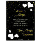 My Heart Is Personalized Cutout Greeting Card