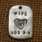 """Wife"" GodTag Sympathy Pendant"