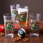 Personalized Pool Room Pub Pint Glasses