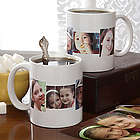Personalized Five Photo Collage Coffee Mug
