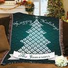 Personalized Christmas Tree Blanket