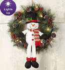 """22"""" Snowman Wreath with LED Lights"""