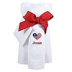 Patriotic Personalized Burp Cloths