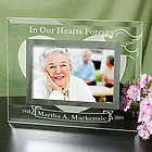 Personalized In Our Hearts Forever Glass Picture Frame