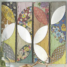 Set of 4 Patchwork Floral Wall Art