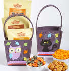 Happy Halloween Owl & Black Cat Felt Gift Totes