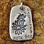 """Daughter"" GodTag Sympathy Pendant"